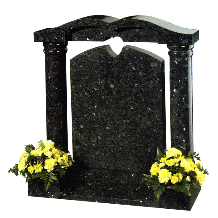 emerald pearl granite staxton headstone